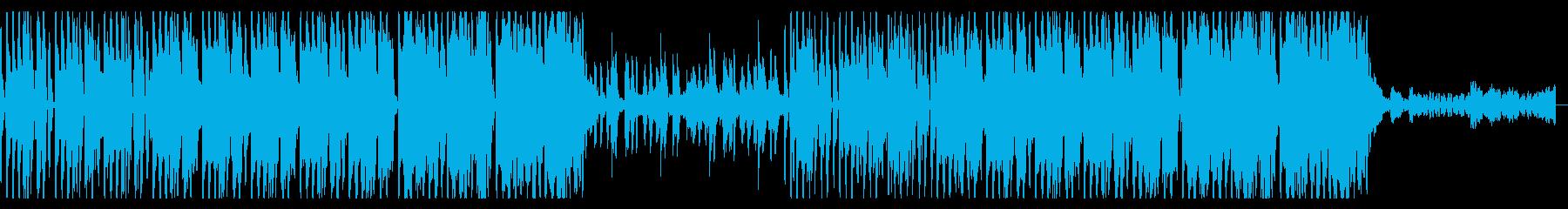 ダンサブルなエレクトロディスコ曲の再生済みの波形