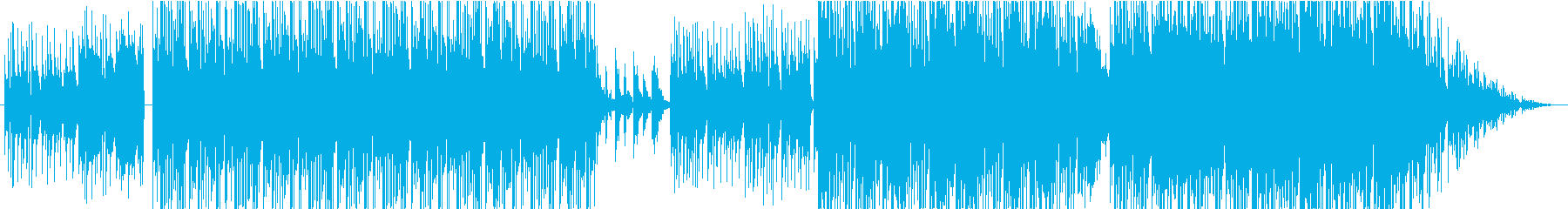 スタイリッシュで幻想的、ジャズ調BGMの再生済みの波形