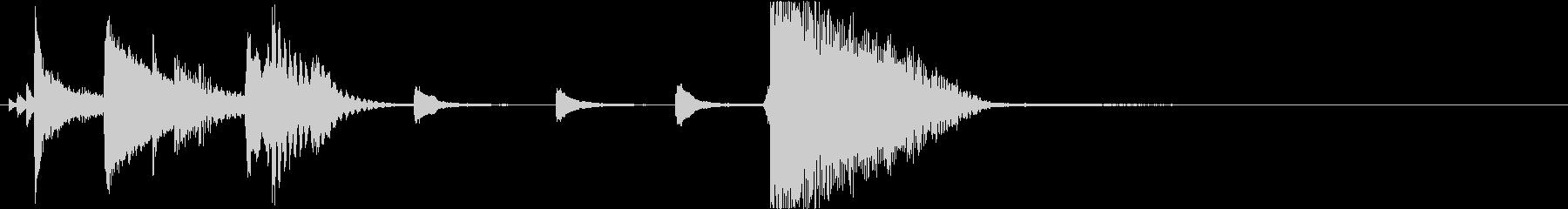 Jazzyなロゴ イメージ プレゼン映像の未再生の波形