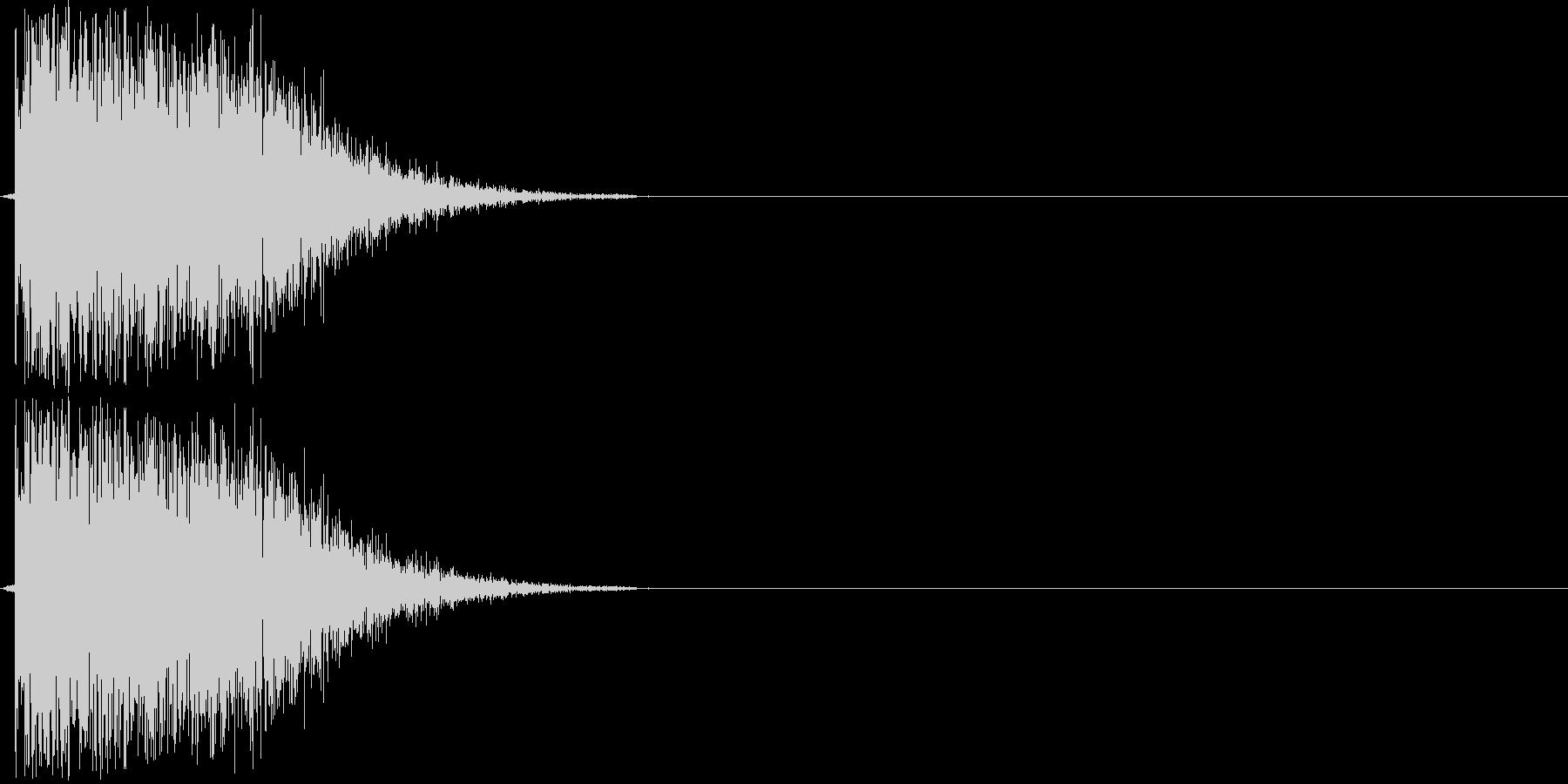 バーン(銃声音)の未再生の波形