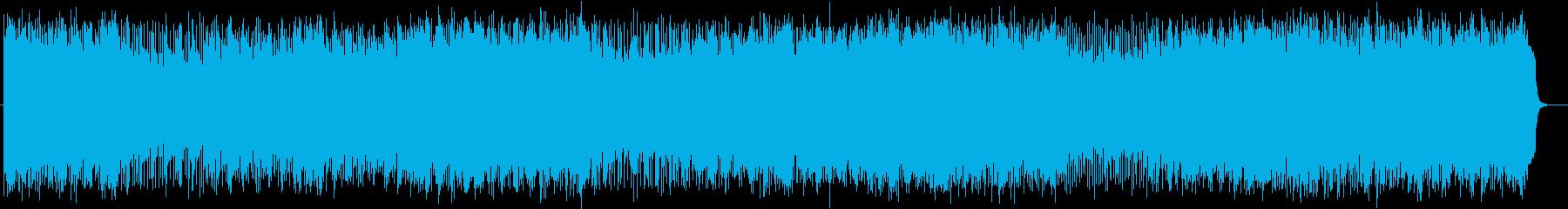 壮大で明るいシンセサイザーのポップスの再生済みの波形