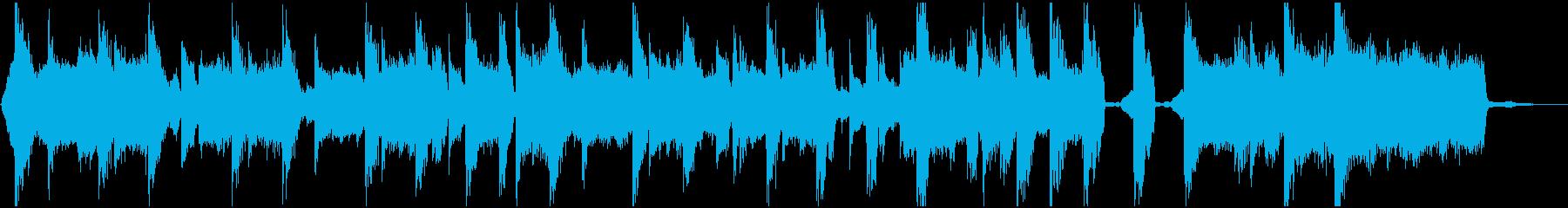 ポップでノリの良い15秒のエレクトロ楽曲の再生済みの波形