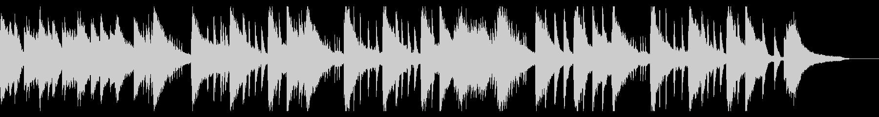 ピアノが奏でるリラックスBGMの未再生の波形