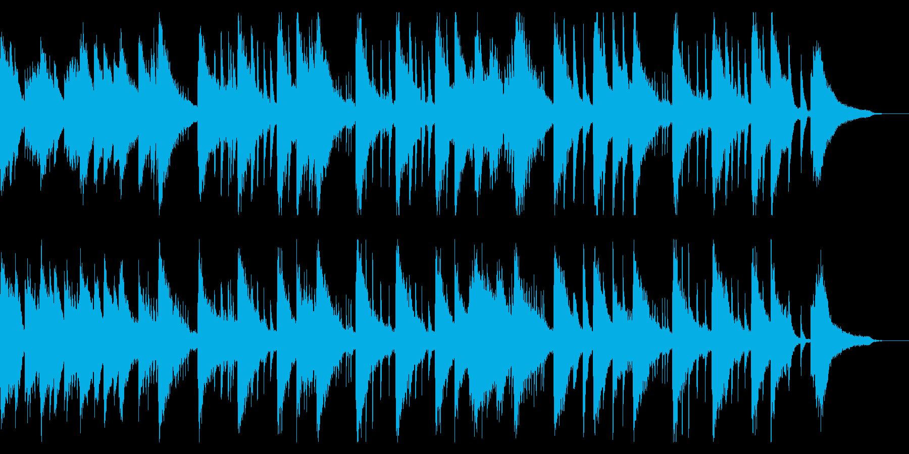 ピアノが奏でるリラックスBGMの再生済みの波形
