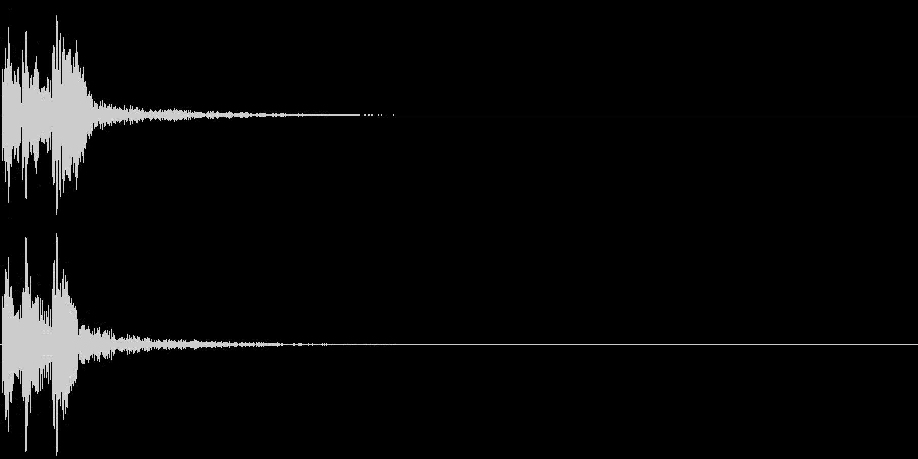 パララーン(クリック音・決定・ボタン音)の未再生の波形
