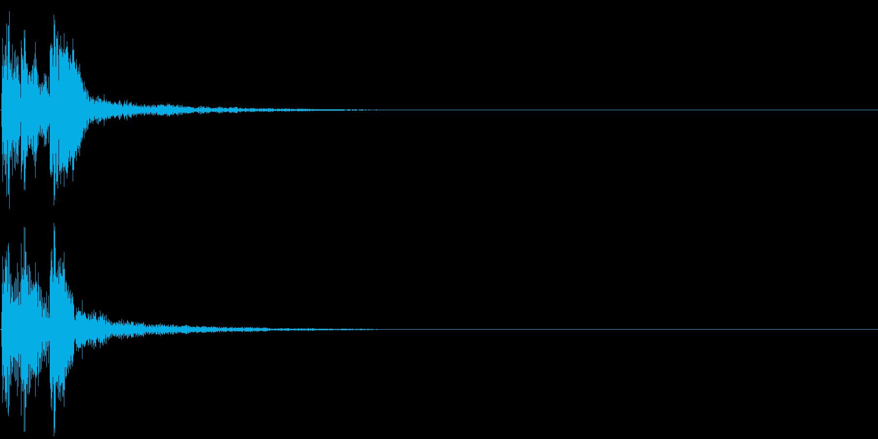 パララーン(クリック音・決定・ボタン音)の再生済みの波形