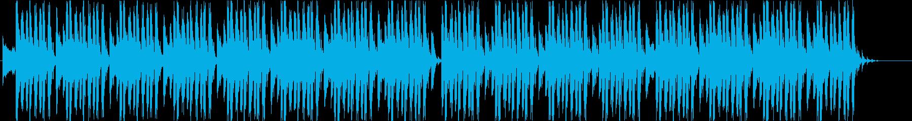 クールな4つ打ちハウスの再生済みの波形