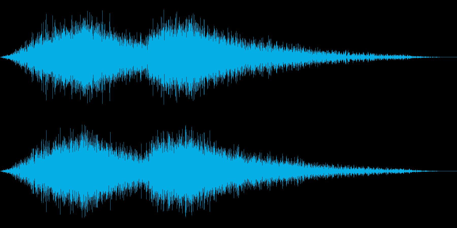 寒い感じのする風の音2の再生済みの波形