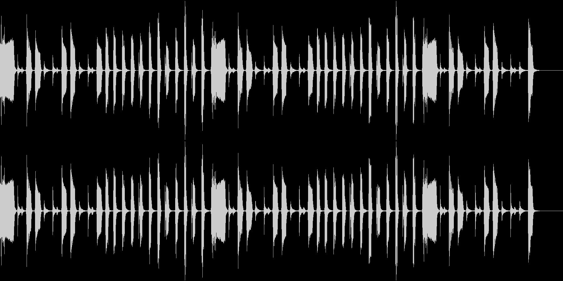 おっちょこちょいな動物が登場するときの曲の未再生の波形