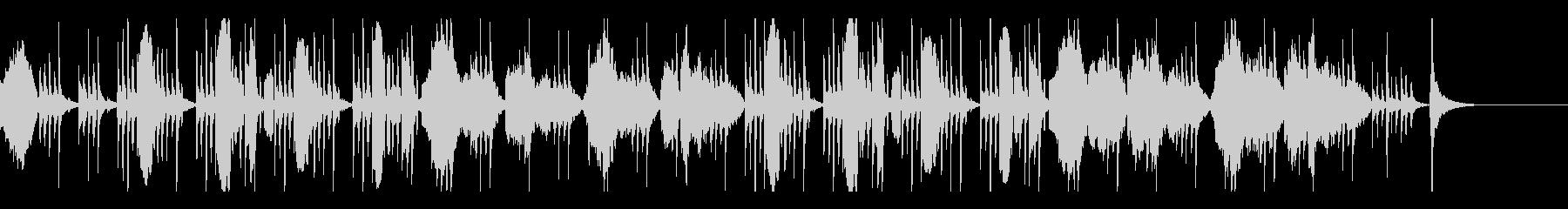 フルート、ファゴットのミステリアスな曲の未再生の波形