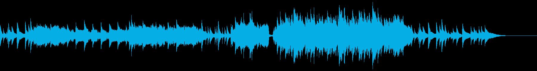 ピアノとストリングスの感動的バラードの再生済みの波形