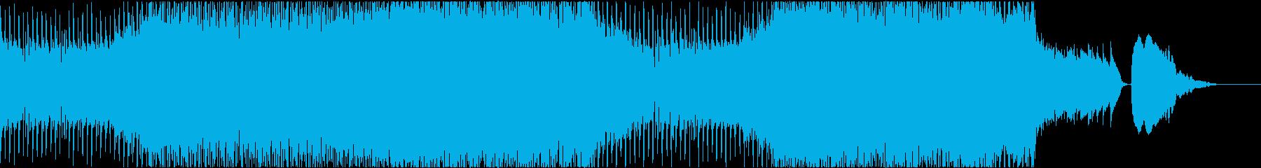 ギターやドラム・オルガンを使用したロックの再生済みの波形
