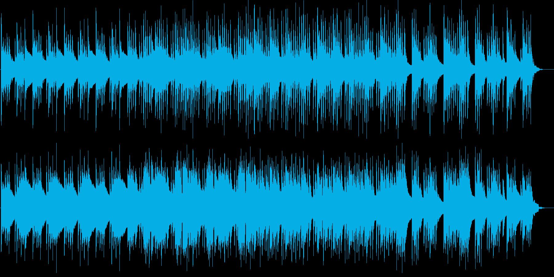 ストリングスとオルゴールの優しい和風曲の再生済みの波形