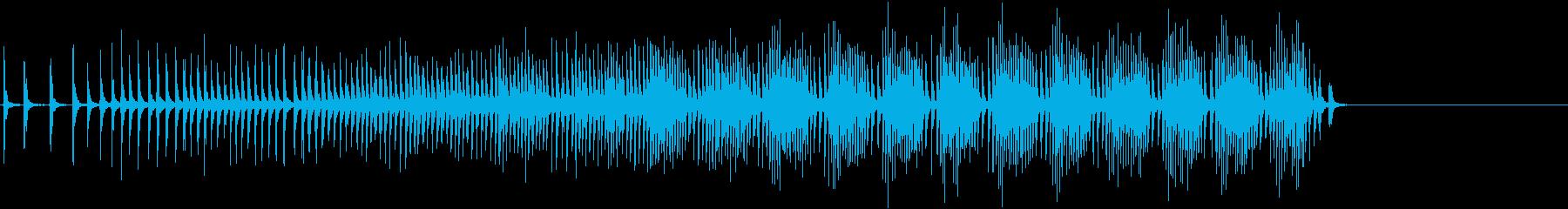 クランク付きラチェット:加速風、漫...の再生済みの波形