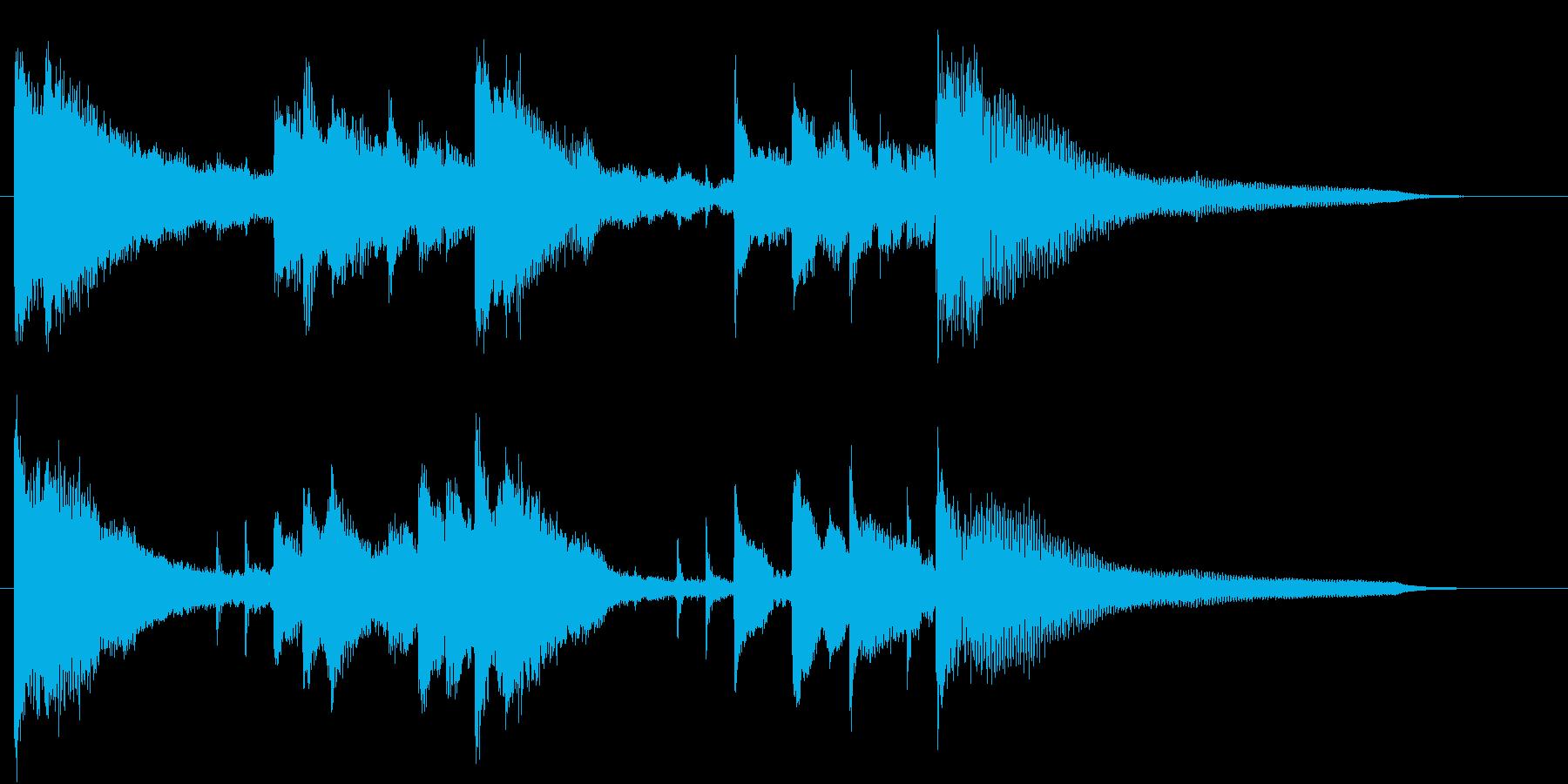 幻想的でロマンチックなロゴ・ジングルの再生済みの波形