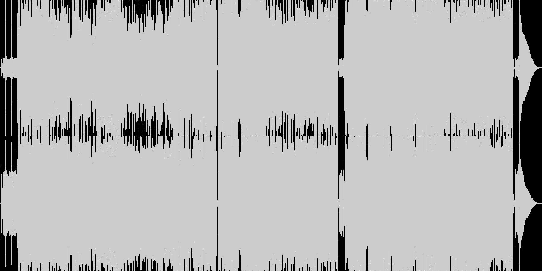 跳ね系のギターロックの未再生の波形