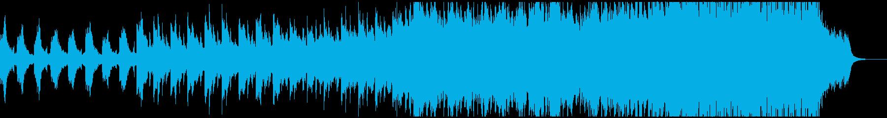 ピアノとストリングスの幻想的な曲の再生済みの波形