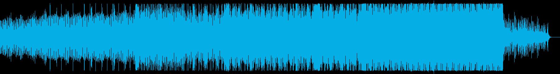 アングラで踊れるダークなテクノ曲の再生済みの波形