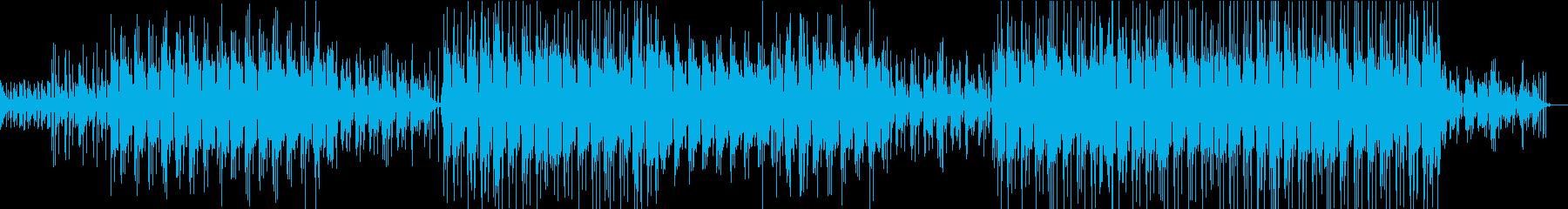 浮遊感のあるギターのヒップホップ的音楽の再生済みの波形
