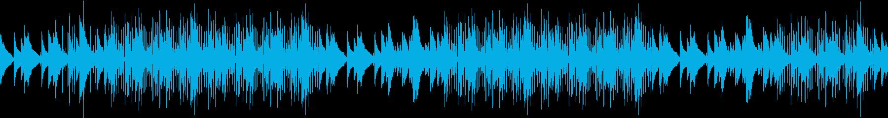 ピアノ・緊迫・ヒップホップ・孤独・ループの再生済みの波形