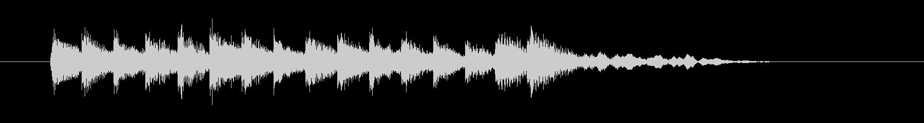 ビブラフォンのエキゾチックな曲の未再生の波形