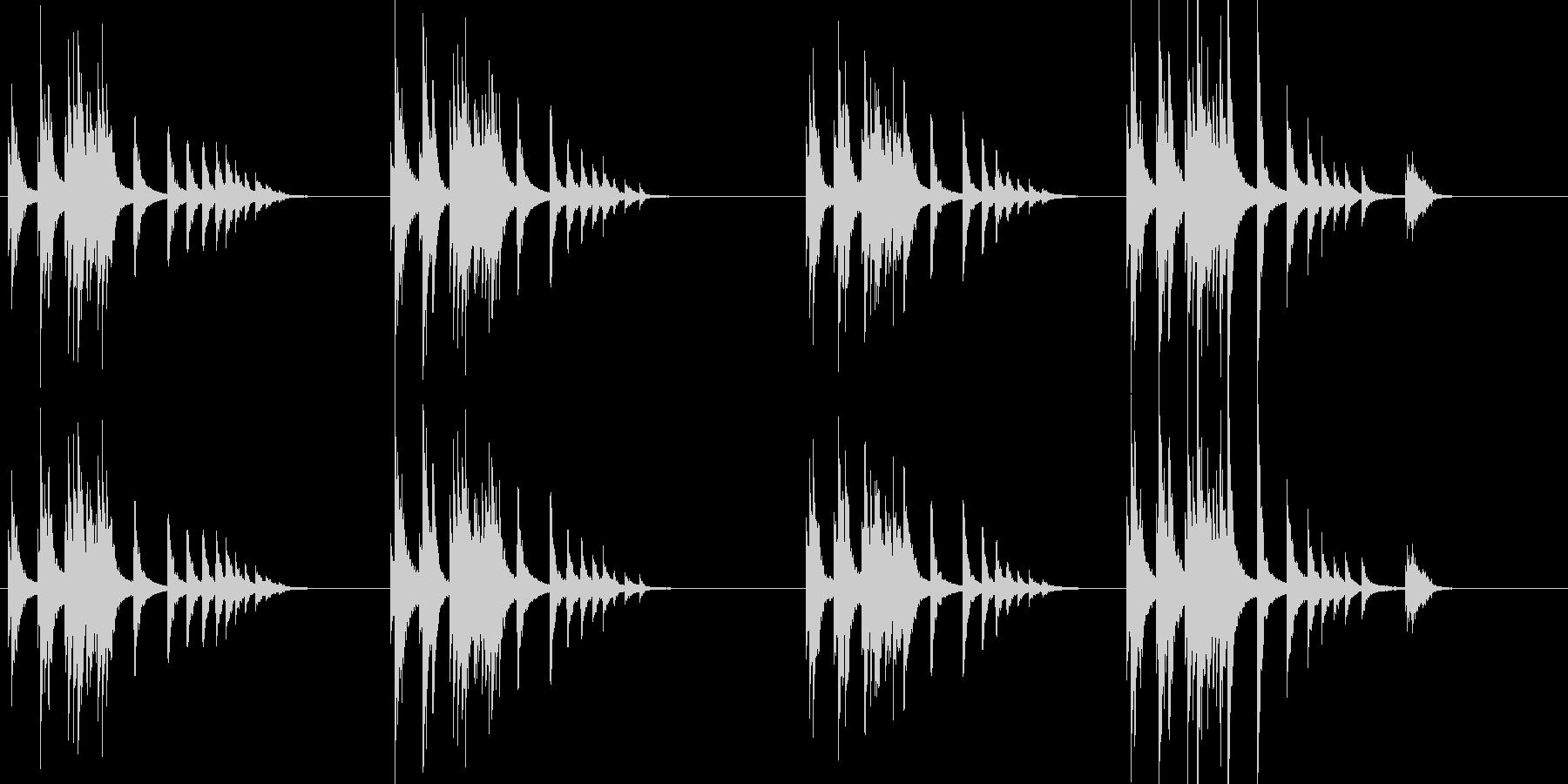 大太鼓9雨音歌舞伎情景描写和風和太鼓助六の未再生の波形