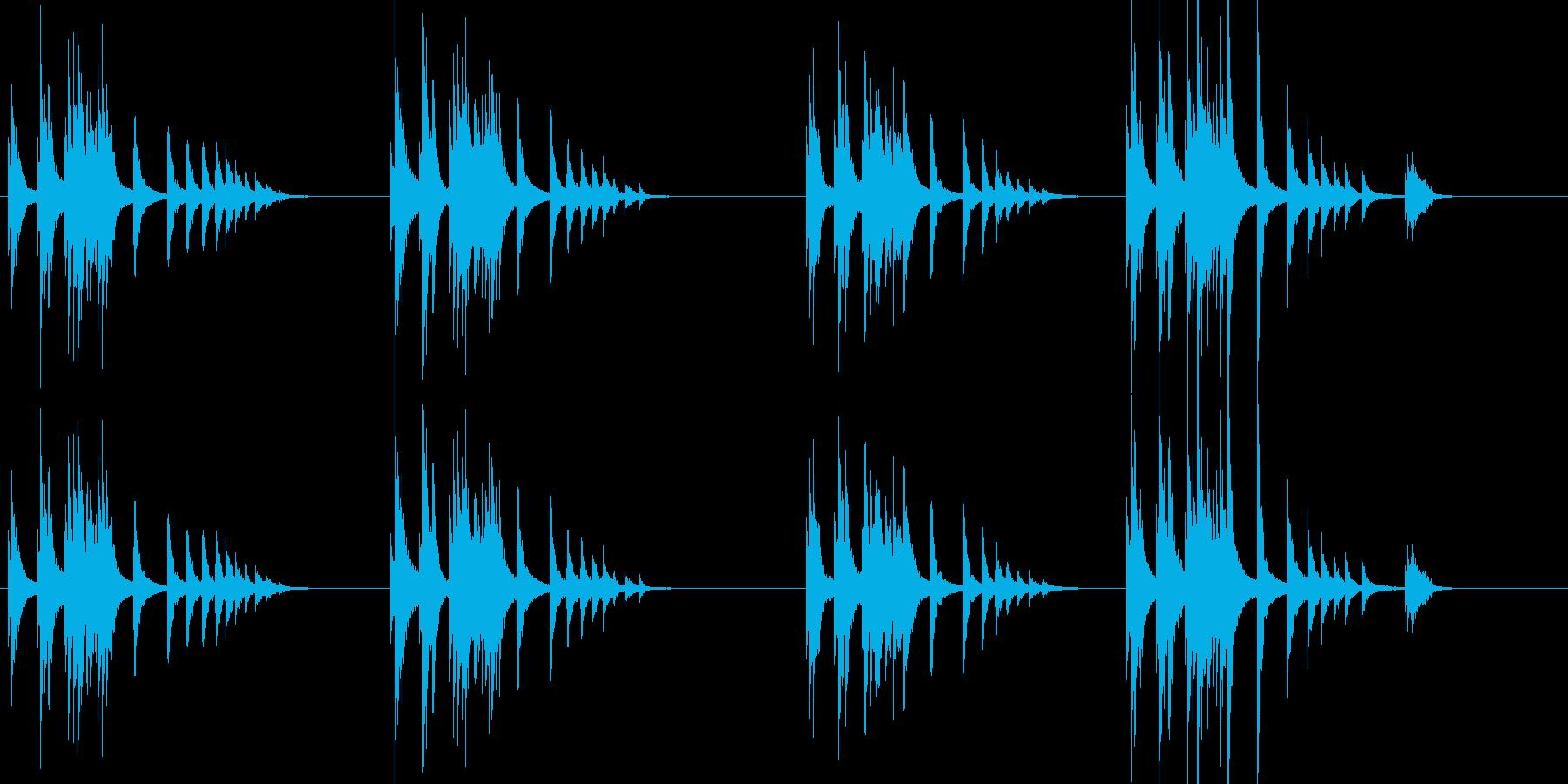 大太鼓9雨音歌舞伎情景描写和風和太鼓助六の再生済みの波形