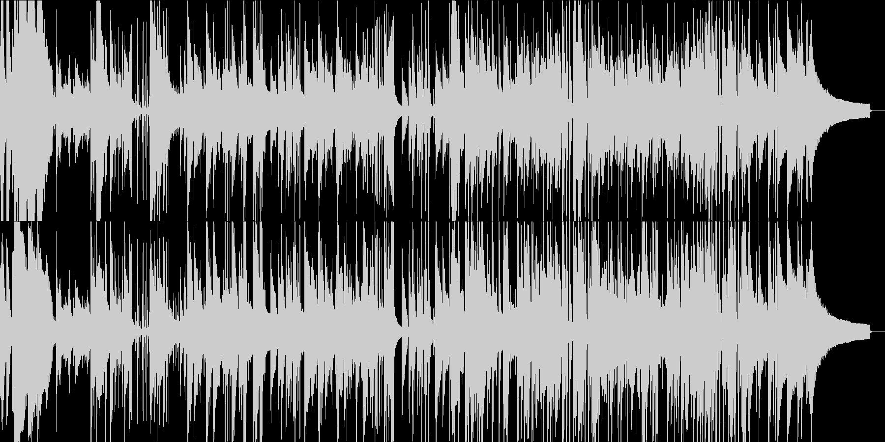 爽やかジャズ ピアノ、ベース、ドラムの未再生の波形