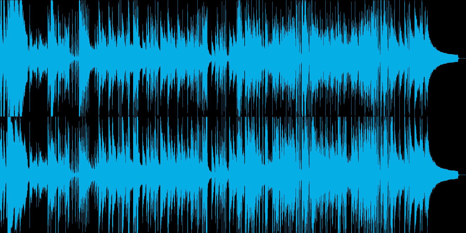 爽やかジャズ ピアノ、ベース、ドラムの再生済みの波形
