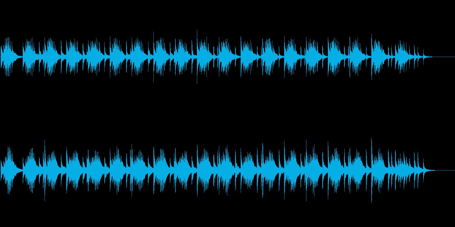 正月を感じさせる落ち着いたピアノBGMの再生済みの波形
