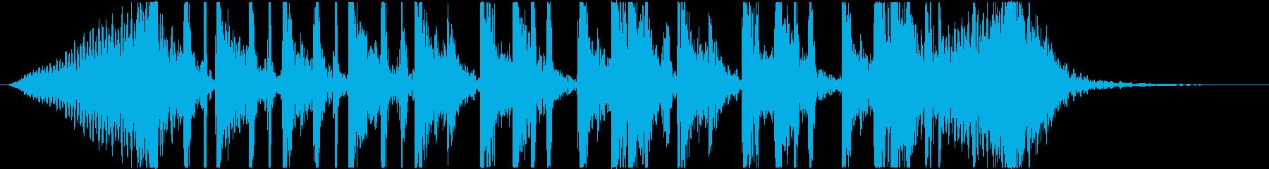 ヒップホップ風のアクティブなジングルの再生済みの波形