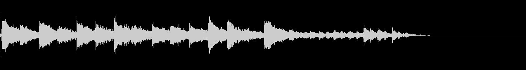 琴の和風効果音の未再生の波形