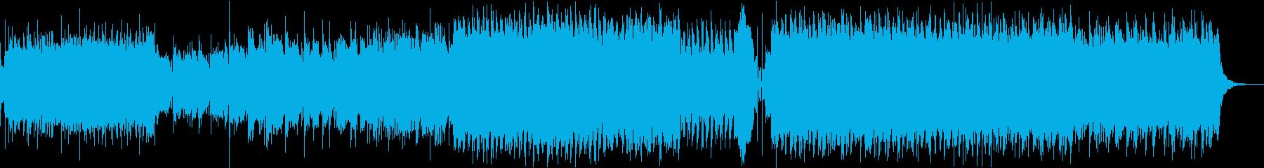 サイバー感あるロック曲:ヴァイオリンの再生済みの波形