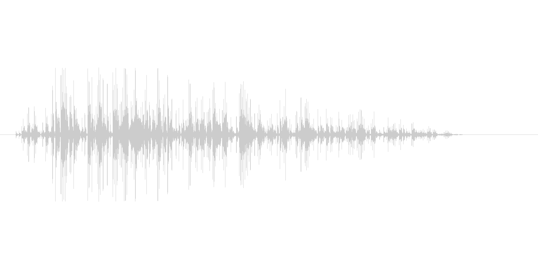 8bitの火炎 ゴオォォォの未再生の波形