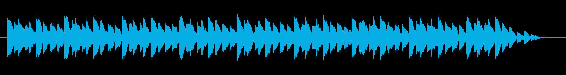 シンプルな音色の着信音の再生済みの波形