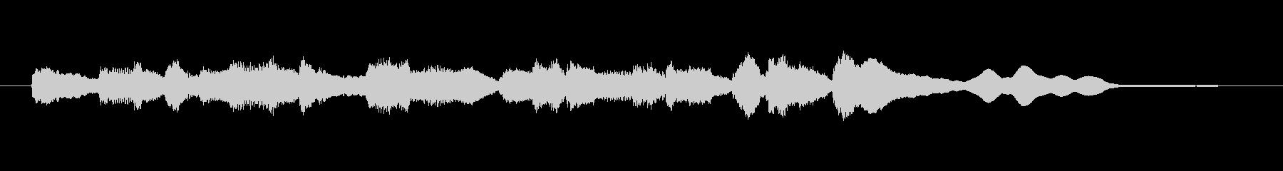 鉄道の到着メロディ(エレピ音)の未再生の波形