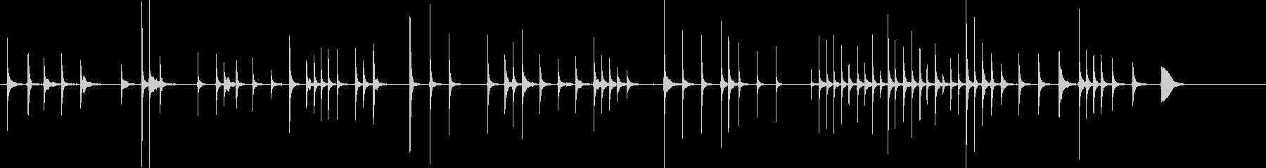 会話の後ろでBGMとして流れる様な三味線の未再生の波形