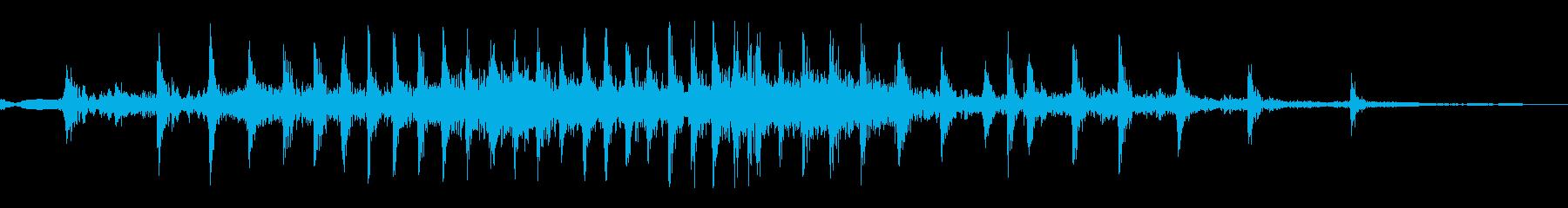 掃除機のコードをしまうの再生済みの波形