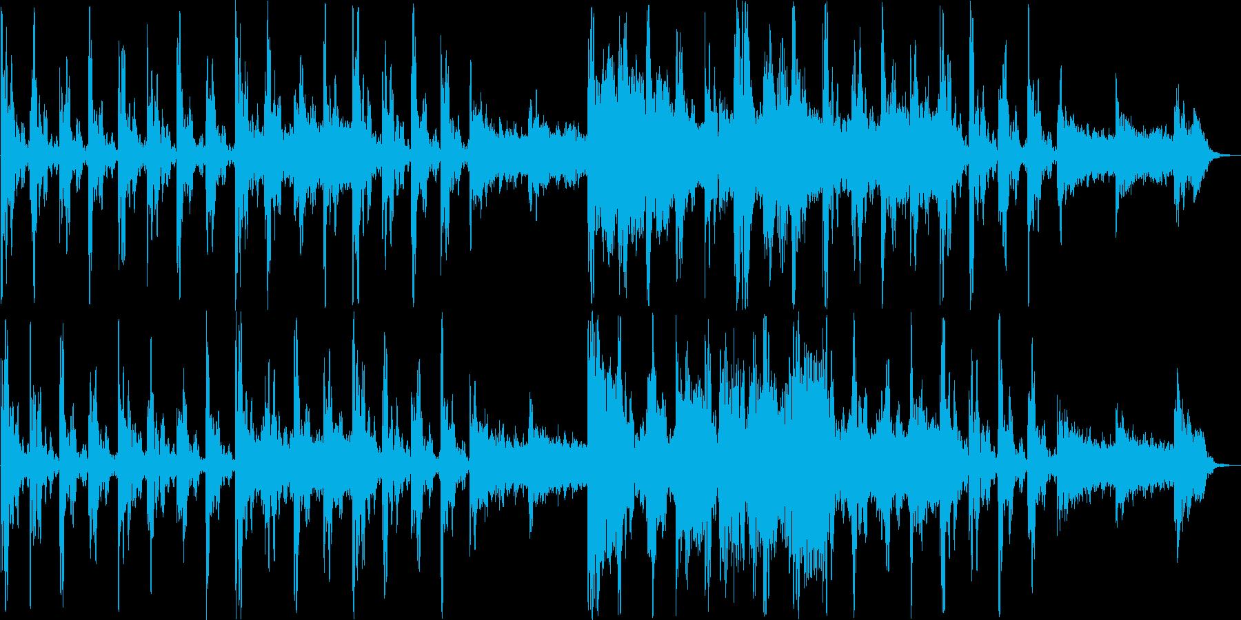 美しいリラクゼーションミュージックの再生済みの波形