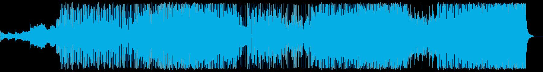 アップテンポで躍動感のあるポップスの再生済みの波形