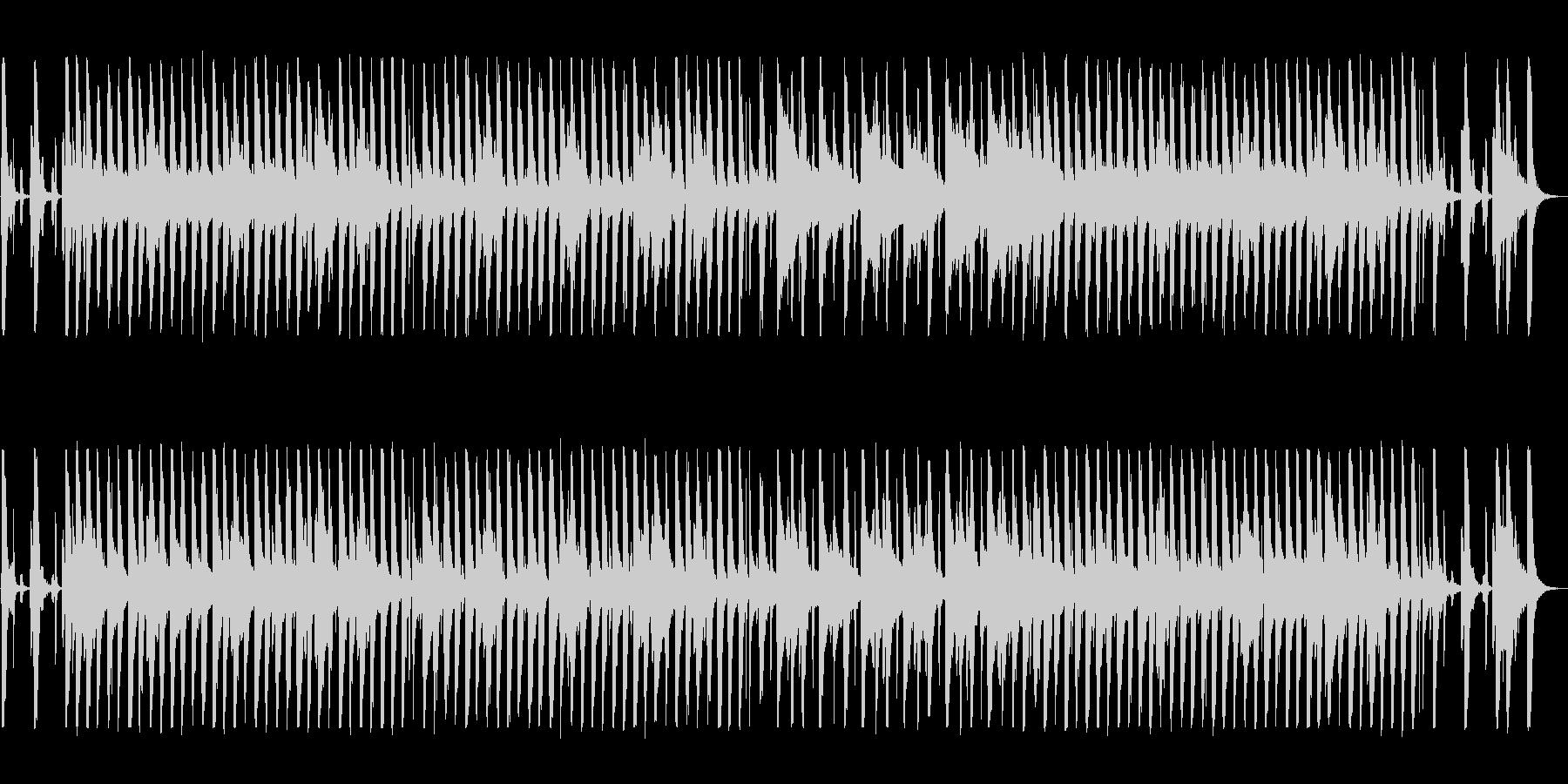 口笛とバンジョーのトラッドジャズの未再生の波形