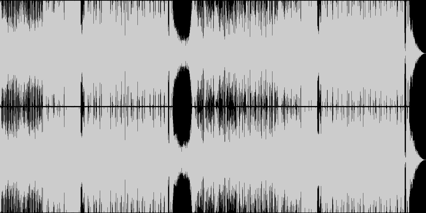映画に出てきそうなダークなEDM の未再生の波形