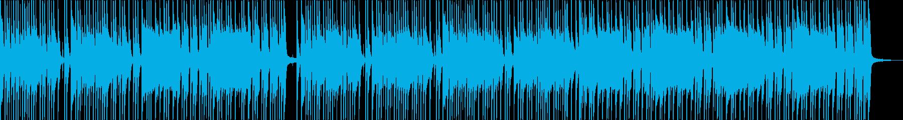かっこいいドラム音の落ち着いた曲の再生済みの波形