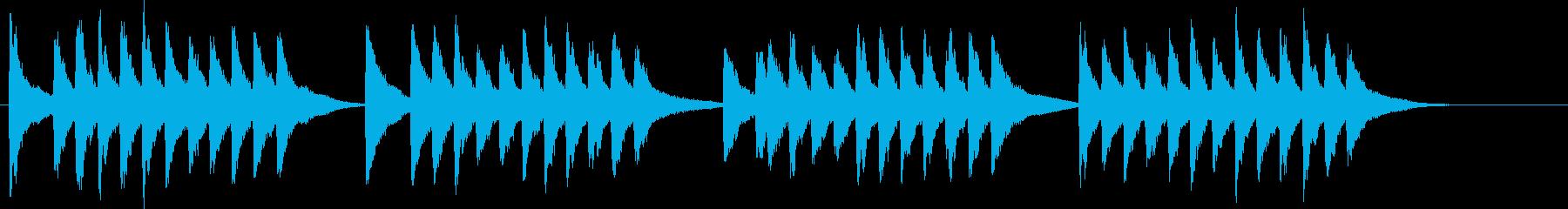 夕方のチャイム音「赤とんぼ」夕焼け小焼けの再生済みの波形