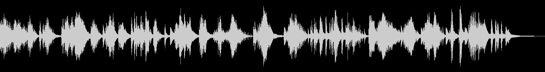暗く湿った伝統的な和風曲14-ピアノソロの未再生の波形