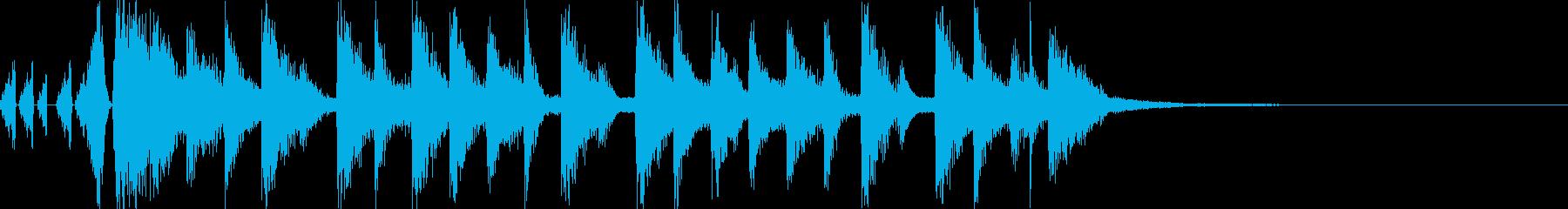 ラジオに合う軽快で可愛いポップジングルの再生済みの波形