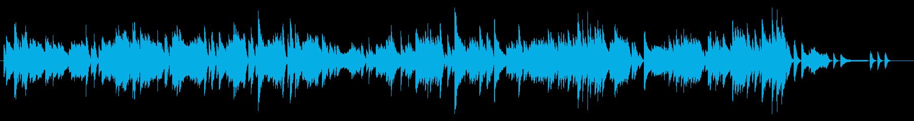 【ピアノ曲】前向きに走り出すイメージの再生済みの波形