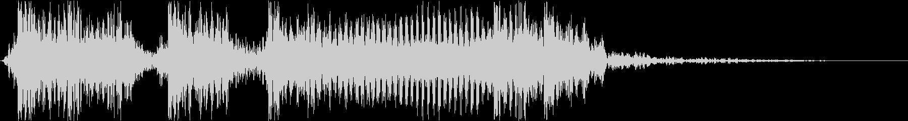 生演奏メタルギター衝撃走るジングルバトルの未再生の波形