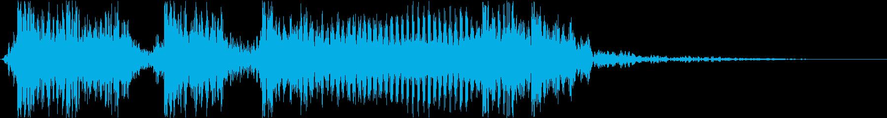 生演奏メタルギター衝撃走るジングルバトルの再生済みの波形