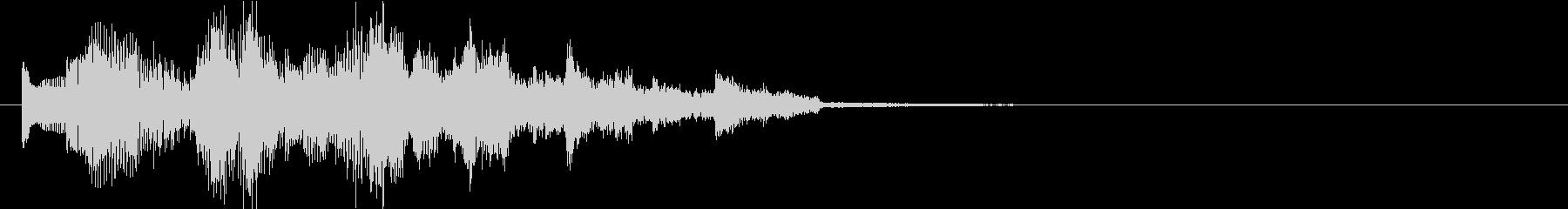 80年代風エレピソロのジングルの未再生の波形
